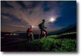 Partenza nottura dal Monte Avaro